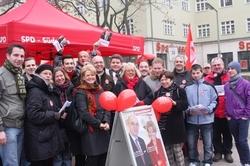 Unterstützer-Infostand in Steglitz - Südende für Barbara Loth und Rolf Wiegand