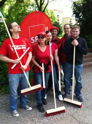Aufräum-Aktion der SPD Südende