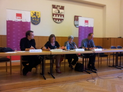Diskussion über die Schulstrukturreform im Rathaus Steglitz