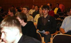 Zahlreiche Zuhörer im Saal