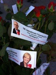 Barbara Loth und Rolf Wiegand grüßen zum Weltfrauentag